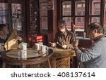 shanghai  china   march 28 ... | Shutterstock . vector #408137614