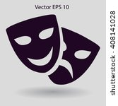 theatrical masks laughter and... | Shutterstock .eps vector #408141028