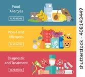 allergies banner set with... | Shutterstock .eps vector #408143449