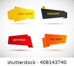 vector stickers  price tag ... | Shutterstock .eps vector #408143740