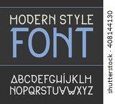 vector label font.  whiskey... | Shutterstock .eps vector #408144130