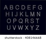 abstract font with points.... | Shutterstock .eps vector #408146668