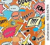 seamless pattern background... | Shutterstock .eps vector #408146794