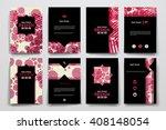 set of brochure  poster design... | Shutterstock .eps vector #408148054