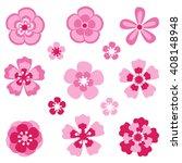 cherry blossom. sakura flowers. ... | Shutterstock .eps vector #408148948