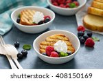 grilled pound cake with fresh... | Shutterstock . vector #408150169