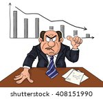 angry boss at the table... | Shutterstock .eps vector #408151990