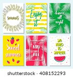 set of greeting summer card... | Shutterstock .eps vector #408152293