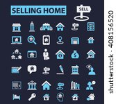 selling home icons  | Shutterstock .eps vector #408156520