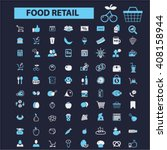 food retail icons  | Shutterstock .eps vector #408158944