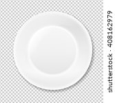 white plate  isolated on... | Shutterstock . vector #408162979