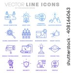 thin line icons set. business... | Shutterstock .eps vector #408166063