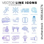 thin line icons set. business... | Shutterstock .eps vector #408166276