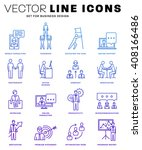 thin line icons set. business... | Shutterstock .eps vector #408166486