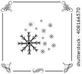 snowflake icon. simple black...