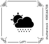 sun with cloud icon. simple...