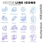 thin line icons set. business... | Shutterstock .eps vector #408166900