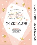 Wedding Invitation Card. Save...