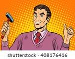 male hammer tool | Shutterstock .eps vector #408176416