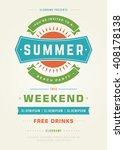 summer holidays beach party... | Shutterstock .eps vector #408178138