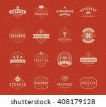 vintage logos design templates... | Shutterstock .eps vector #408179128