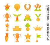 vector icons set of golden... | Shutterstock .eps vector #408182839