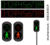 pedestrian traffic light. led... | Shutterstock .eps vector #408184819