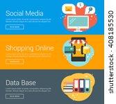 social media. shopping online.... | Shutterstock .eps vector #408185530
