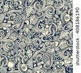 cartoon hand drawn holidays... | Shutterstock . vector #408186190