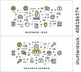 vector thin line business idea... | Shutterstock .eps vector #408186574