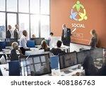 social socialize society unity... | Shutterstock . vector #408186763