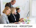 professor in marketing training ... | Shutterstock . vector #408187264