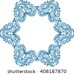 abstract ornamental frame.... | Shutterstock .eps vector #408187870