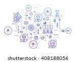 flat style  thin line art... | Shutterstock .eps vector #408188056