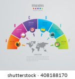infographic design vector and... | Shutterstock .eps vector #408188170