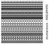 islamic seamless vector line... | Shutterstock .eps vector #408189490