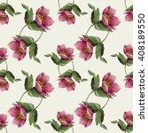 watercolor hellebore flower... | Shutterstock . vector #408189550