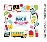 colorful frame with school... | Shutterstock .eps vector #408192163