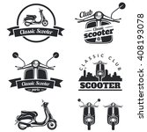 set of classic scooter emblems  ... | Shutterstock . vector #408193078