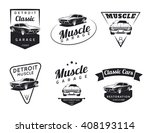 set of classic muscle car... | Shutterstock . vector #408193114