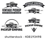 set of suv pickup car emblems ... | Shutterstock . vector #408193498