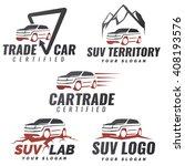 set of suv car service logo...   Shutterstock . vector #408193576