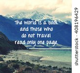 Inspirational Travel Quote With ...