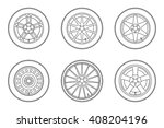 auto wheels line icons. vector... | Shutterstock .eps vector #408204196