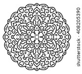 black and white vector mandala. ... | Shutterstock .eps vector #408205390