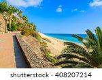 coastal promenade along sandy... | Shutterstock . vector #408207214