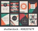 set of vector creative greeting ...   Shutterstock .eps vector #408207679
