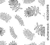 seamless pattern with hand... | Shutterstock .eps vector #408208498