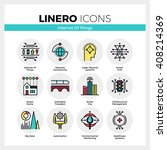 line icons set of internet of...   Shutterstock .eps vector #408214369