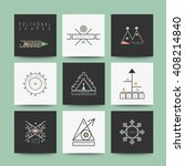 sacred geometry. set of minimal ... | Shutterstock .eps vector #408214840